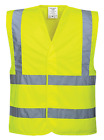 Внешний вид - PORTWEST HI-VIS TWO BAND & BRACE SAFETY VEST SIZE S/M-6XL/7XL C470 CLASS 2