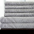 6 Piece Paisley Print Bedroom Sheet Set 1500 Thread Count Egyptian Comfort image