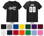 Senior 2017, 18, 19 Pick A Year, Name & Number Woman's T-shirt, Script