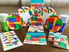 BUILDING BLOCKS BIRTHDAY PARTY Kit Set Serves 16 Party Supplies Cups Plates