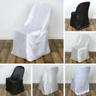 100 pcs SATIN FOLDING CHAIR COVERS Wholesale Wedding Reception Party Decorations