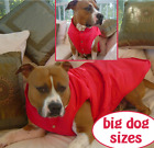 LARGE DOG COAT BIG DOG RED JACKET WINTER COAT BULLDOG PITBULL STAFFY ROTTY etc