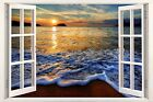 3D Window Effect on Canvas Mexico Caribbean Sea Mayans Picture Wall Art Print