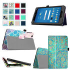 """PU Leather Case Folio Cover Wake / Sleep For AT&T Trek 2 HD 8"""" (Model 6461A)"""