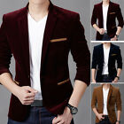 HOT Stylish Men's Suit Blazer Casual Slim Fit Formal One Button Coat Jacket Tops
