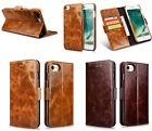 ICARER 2-in-1 Oil Wax Genuine Leather Wallet Case Cover For iPhone 6 6S 7 7Plus