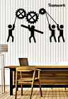 Wall Stickers Vinyl Decal Team Business Work Teamwork Office Interior z4700