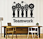 Wall Vinyl Decal Team Business Work Teamwork Office Decor z4703