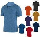 MEN'S WICKING, HEATHERED LOOK, SHORT SLEEVE, PERFORMANCE POLO SHIRT, S-3XL