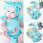 Newborn Infant Baby Girl Floral Bodysuit Romper Jumpsuit Clothes Outfits