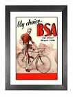 BSA 1936 Old Fasioned Bicycle Vintage Cycling Retro Print Old Advert Poster