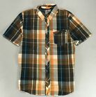 Volcom Short Sleeve Check Shirt Brown size S
