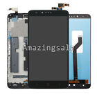 LCD Touch Screen Digitizer Assembly Replacement W/Frame FOR ZTE Zmax Pro Z981