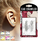 PAIR of Accending Crystals Ear Crawler / Climber 20g Earrings- choose your color