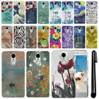 For LG Aristo MS210 LV3 K8 M150 Fortune Marble Design HARD Back Case Cover + Pen