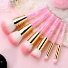 KINGMAS 6 Pcs Beauty Pro Makeup Brushes Kit Set with Rhinestone Acrylic Handle