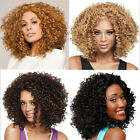 Cosplay Ombre Wavy Black Hair Curly Afro Bangs Wigs Blonde Long Short Ladies Cap