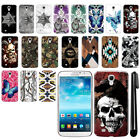 For Samsung Galaxy Mega 6.3 I527 Butterfly Design HARD Back Case Cover + Pen