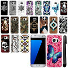 For Samsung Galaxy S7 Edge G935 Butterfly Design HARD Back Case Cover + Pen