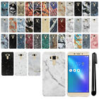 "For Asus ZenFone 3 Laser ZC551KL 5.5"" Marble Design HARD Back Case Cover + Pen"