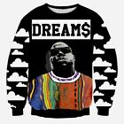 """Biggie Smalls DREAMS"" Crewneck Hip-Hop Sweatshirt"