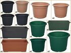 Whitefurze Sets of 2 Milano Planters - Light Grey 25cm 30cm 35cm 40cm 50cm 60cm
