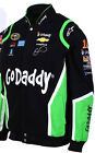 Danica Patrick Go Daddy Mens Black Cotton Twill Nascar Jacket by JH Design
