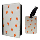 Foxes Dog Head Pattern Luggage Tag & Passport Holder - S959