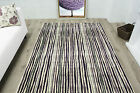 New Modern Mottled Purple Striped Rugs Small Large Non Shed Modern Lounge Rugs