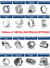 "Metal 4 inch /100mm dia Ducting Parts n Fittings for 4"" duct or extractor fan"