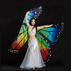 Belly Dance Costume Butterfly Isis Wings for Adults / Children with 2 Sticks