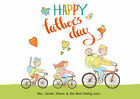 HAPPY FATHER'S DAY - FAMILY & PETS SILHOUETTE PRINT - FOR FATHERS