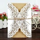 10/50 Laser Cut Wedding Invitations Envelope Birthday Greeting Card Party Supply