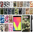 For LG V20 VS995 H990 LS997 H918 US996 Camo Design HARD Back Case Cover + Pen