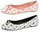 Girls Glitter Party Shoes Slip On Polka Dot Ballerinas Loafers Kids Shoes Size