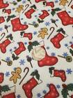 """Christmas Stocking Poly Cotton Fabric, 45"""" wide. £1.95 per metre"""