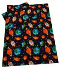 Space Ships, Planets Duvet Cover and Pillowcase - Girls and Boys Bedding