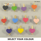 Mini Heart Shape Wooden Clothes Peg Craft for Shabby Chic Wedding Craft 30mm