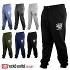 Mens Ecko Cover Fleece Cuffed Jogging Bottoms Sweat Tracksuit Pants Trouser Size