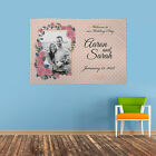 PERSONALISED PHOTO WELCOME TO OUR WEDDING DAY BANNER PINK SPOTTY FLOWERS PRETTY