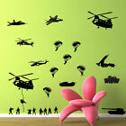 Wall Decal Sticker Vinyl Decor Art Military Soldiers Army Pack Parachute Kids A2