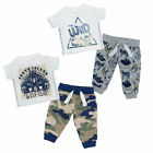 Newborn Baby Boys Jogger & T-Shirt Set Safari Themed Clothes Novelty Outfit New
