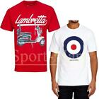 Mens Lambretta Scooter Target Mod Print Retro T-Shirt Cotton Tee Size