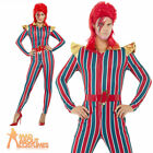 Adult Space Superstar Ziggy Stardust Costume Mens Womens Fancy Dress Outfit