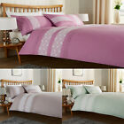 Bibury Lace Sequenced Panel Stitch Duvet/Quilt Covers With Matching Pillowcases