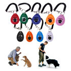 1pc Pet Dog Cat Button Click Clicker Trainer Training Obedience Aid Wrist Strap