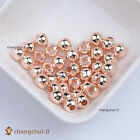 Rose Gold Smooth Round Spacer Loose Beads Jewelry Findings 4mm 5mm 6mm 8mm 10mm