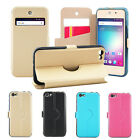 4 Colors Windows PU Stander Card Solt TPU Cover Case For BLU VIVO5 5 Mini