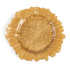LinenTablecloth Coral Glass Charger Plate (4 Pack) for Events, 9 Colors!