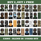 Внешний вид - 1 CAMO Face Mask Sun Shield Neck Gaiter Balaclava Neckerchief Bandana Headband